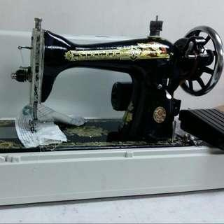 New Sewing Machine with electric motor and plastic box