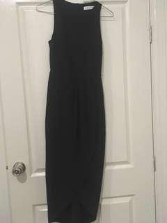Navy asymmetrical dress