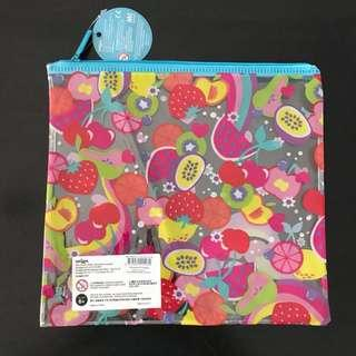 NEW Smiggle clear pencil case with fruit print This was originality part of a set but case was not needed