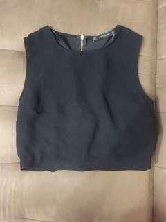 Zara Basic Black Crop Top