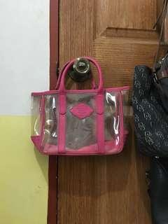 Victoria's Secret transparent pink handbag