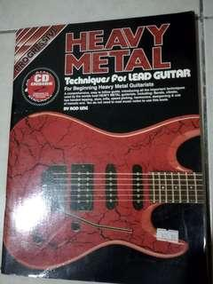 Progressive Heavy Metal Technique for lead guitar tablature book