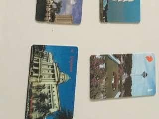 Singapore old phone cards