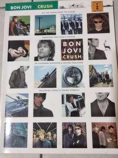 Bon Jovi Crush Guitar Tablature Book