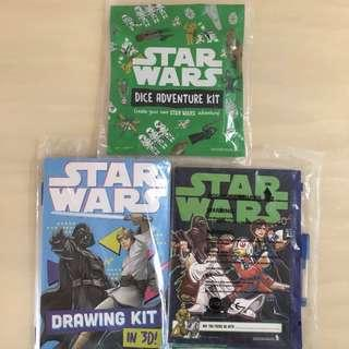 BN ✈️SINGAPORE AIRLINES✈️ SQ Star Wars Dice Adventure Kit/ 3D Drawing Kit/ Writing Notebook/ Book + Pen + Folder (Children/ Kids Toy)