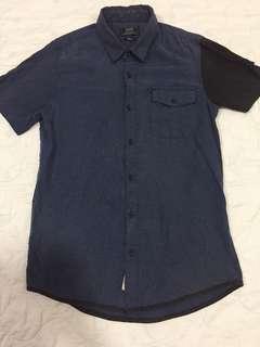 Navy black Casual Top