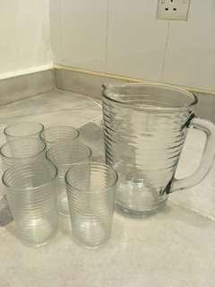 7 piece pitcher set