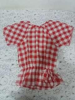 Red Checker Blouse