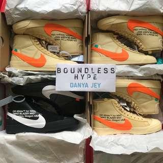 🚚 Off-White x Nike Blazer Grim Reaper & All Hallow's Eve/Total Orange