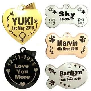 Laser Deep Engraving Customized Pet ID Tag For Dogs & Cats