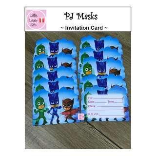 PJ Masks Invitation card