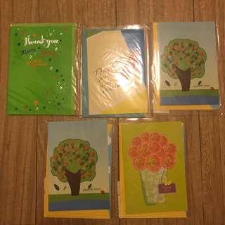 Thank you cards x 5