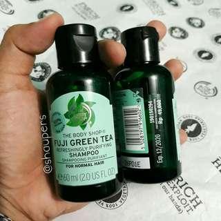 Fuji Green Tea Shampoo 60ml Travel Size The Body Shop