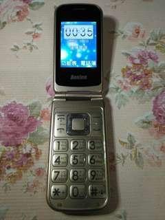 🚚 Benten W188銀髮族折疊老人機 3G 4G 可用,大按鍵、大字體、大音量、LED手電筒,功能都正常,只賣800元