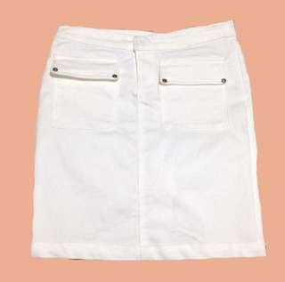 White Straight Skirt
