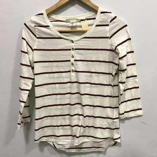 3/4 Striped Top