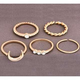 Knuckle rings - gold