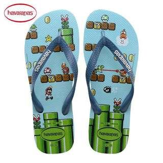 Havaianas Special Edition Super Mario Slippers Sandals. Size 41