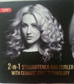 2-in-1 Hair Strightner & Curler