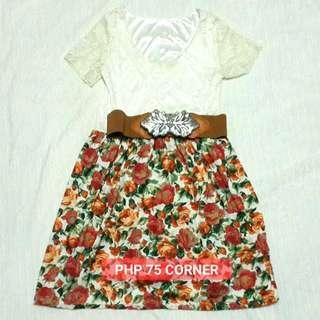 JUST PAY SHIPPING FEE - White laced and floral dress