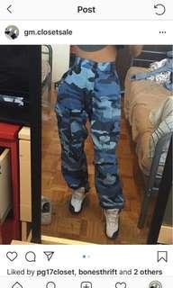 Blue Camo Pants
