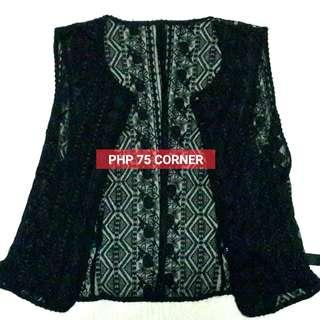 JUST PAY SHIPPING FEE - See-Through Black Vest