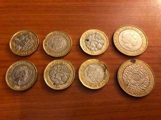 1 & 2 Pounds coins
