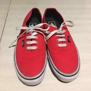 REPRICED!! Authentic Vans (RED)
