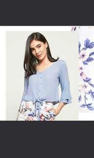 💛 Blue knot blouse