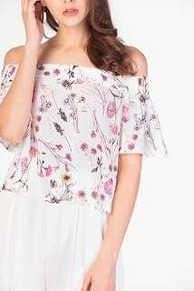 🚚 INSTOCK | TCL Delias Floral Off Shoulder Top