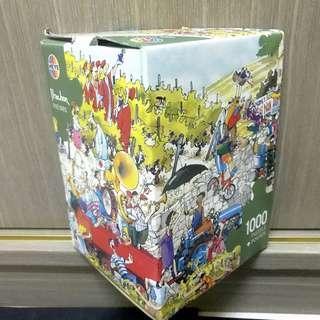 Heye 拼圖 puzzle 1000片 三角盒 經典款 blachon