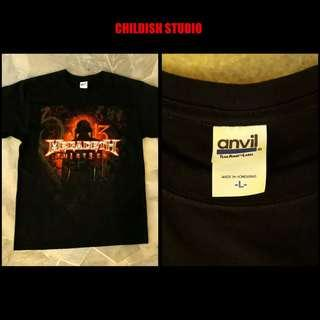MEGADETH (THIRTEEN ALBUM) T-shirt 'L' size.
