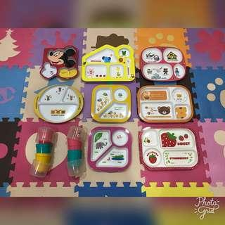 Kid Divided Plates and Cups Bundle
