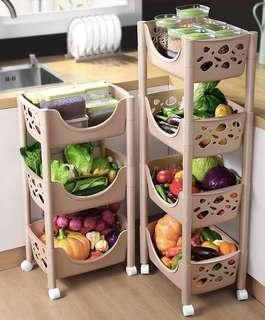 廚房置物架 落地多層收納架子 蔬菜用品 用具小百貨筐 臥室神器