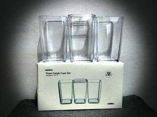 Miniso gargle cups set (tmpt utk sikat gigi)