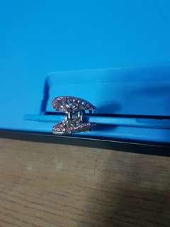 Heart shaped crystal hair clip