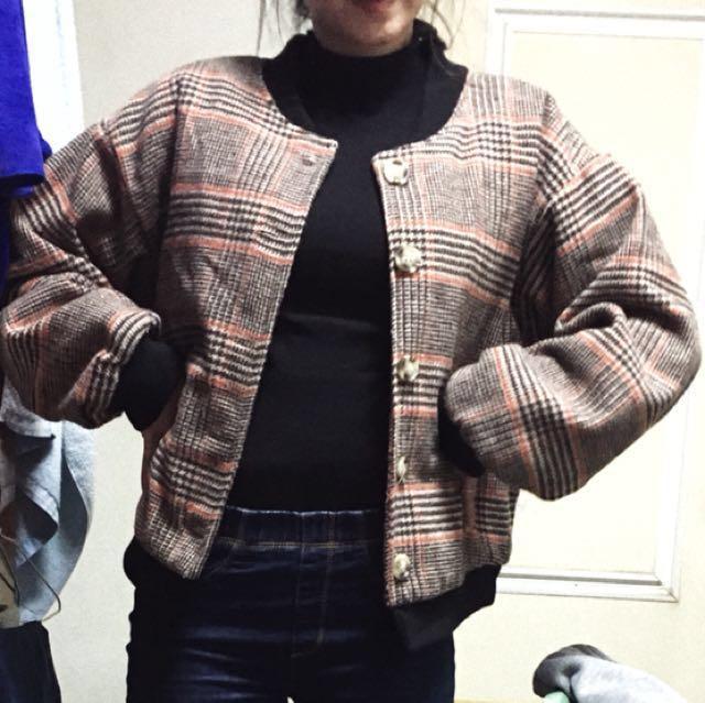 復古夾棉外套
