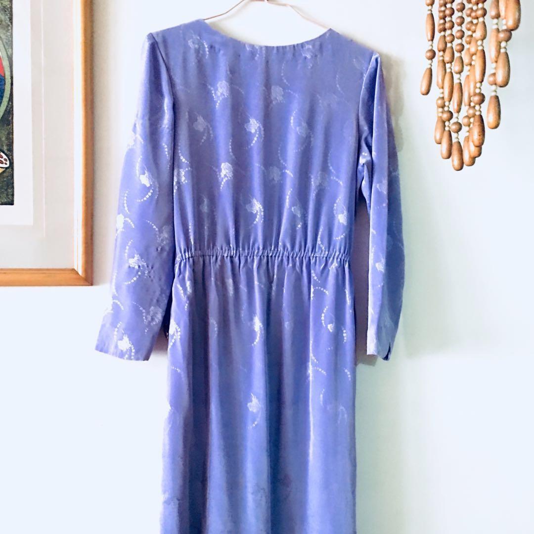 古著 紫色洋裝(半旗袍)