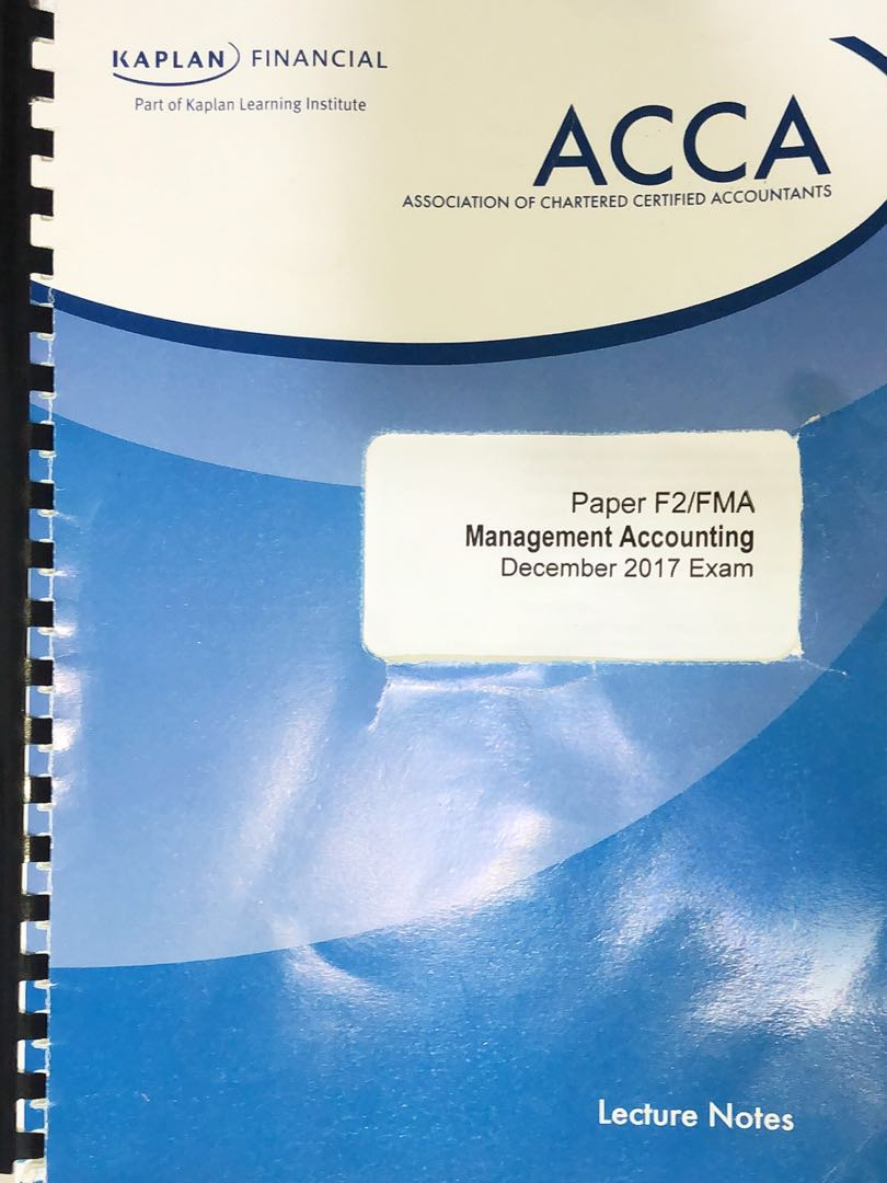 ACCA F2 lecture notes