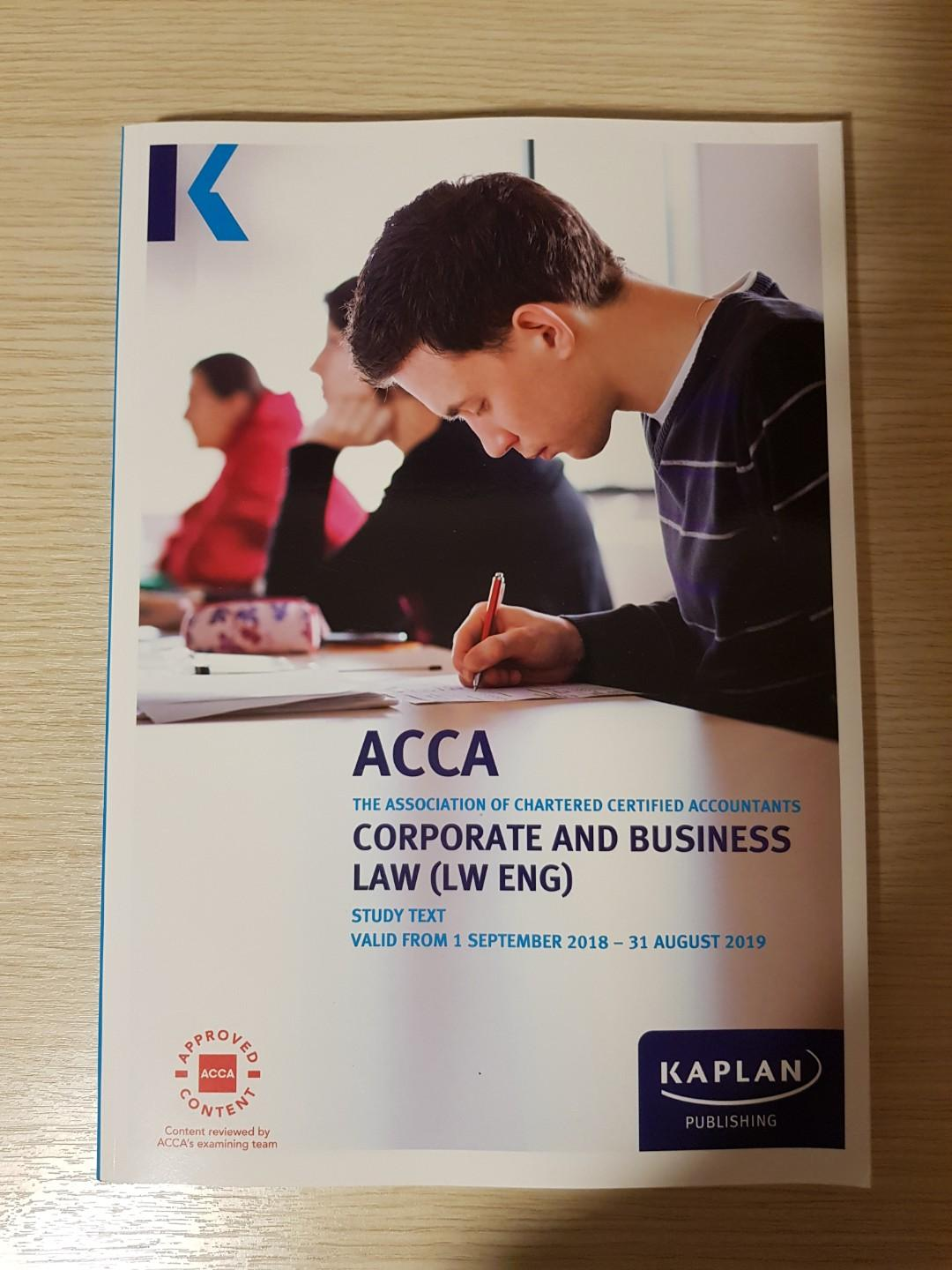 ACCA F4 kaplan study text (2019), Books & Stationery
