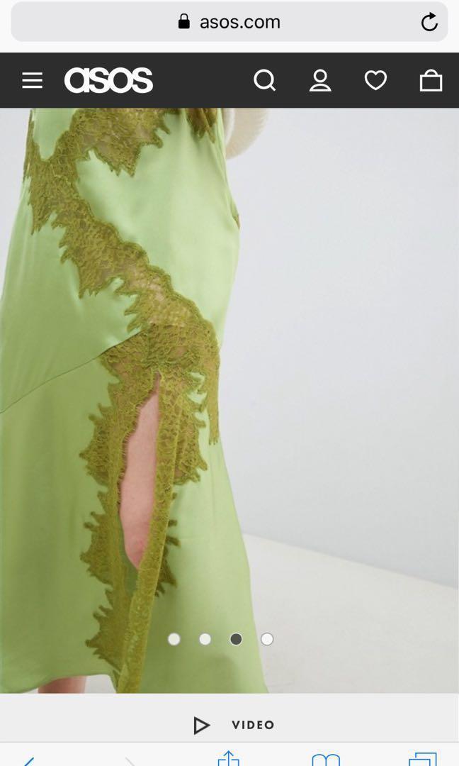 ASOS split spring skirt