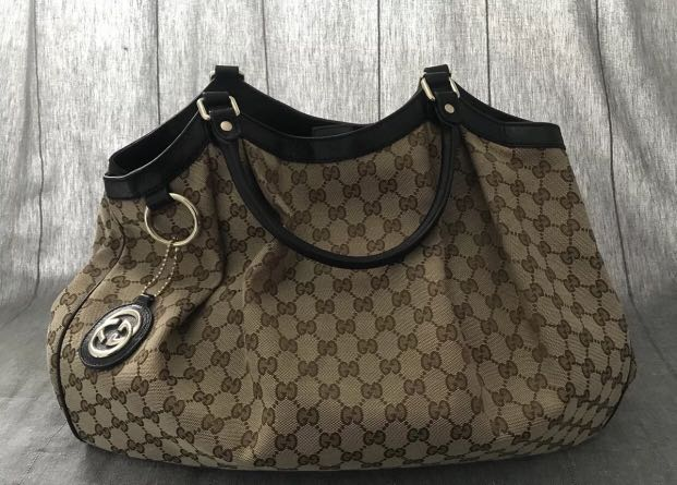 d7753f822489 Authentic Gucci Sukey large monogram tote bag, Luxury, Bags ...