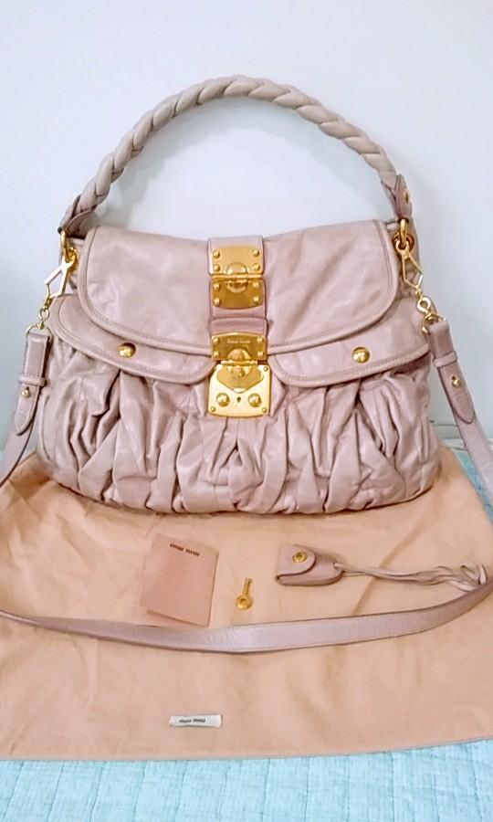 Miu Miu Matelasse Coffer Bag lusty pink, Luxury, Bags   Wallets ... ec90f0490d