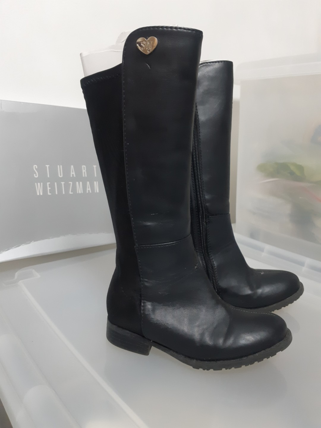 newest 5a178 a9696 Authentic Stuart Weitzman Kids Leather Boots