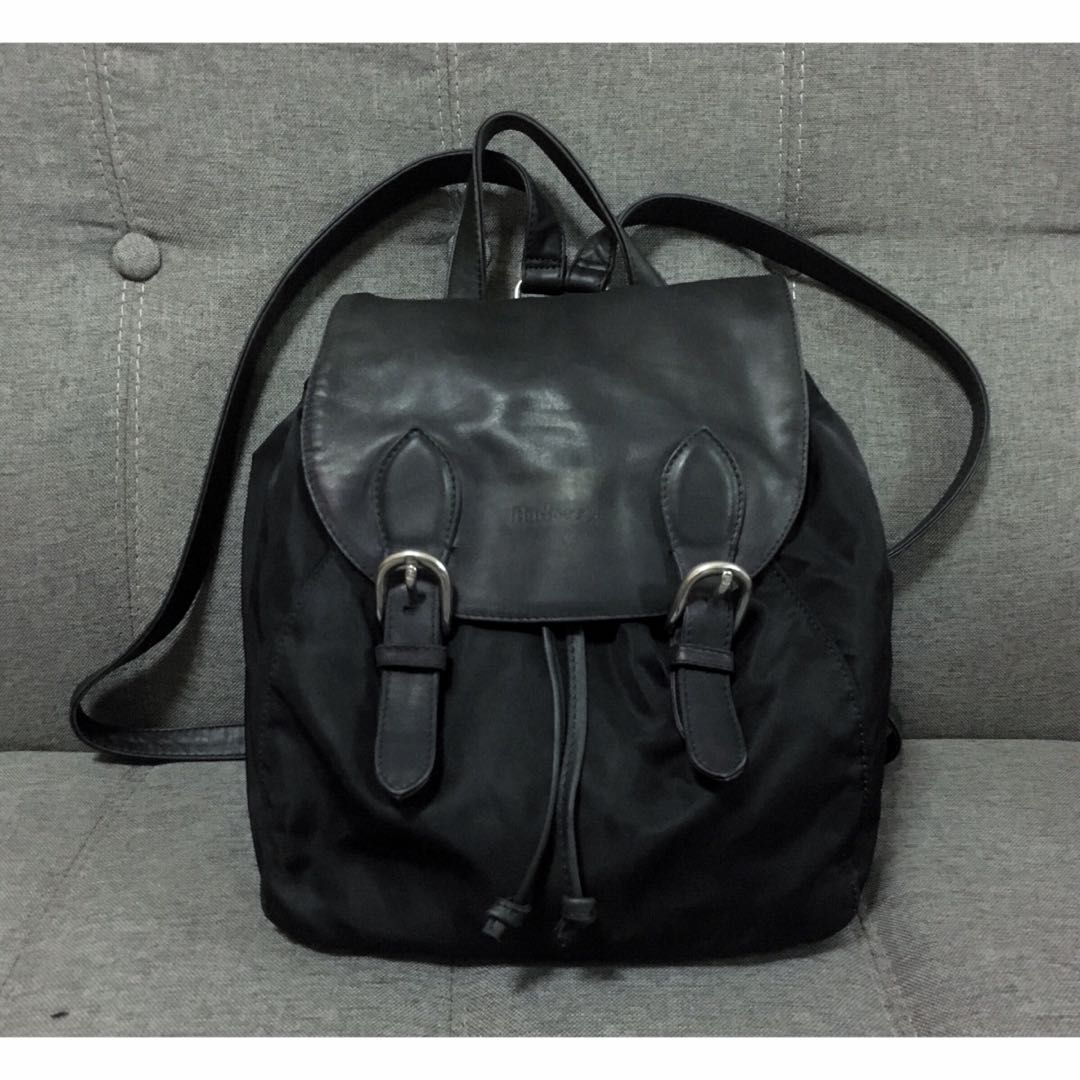 4a90f331241104 AUTHENTIC VINTAGE BURBERRY NYLON AND LEATHER BACK PACK VERY RARE ...