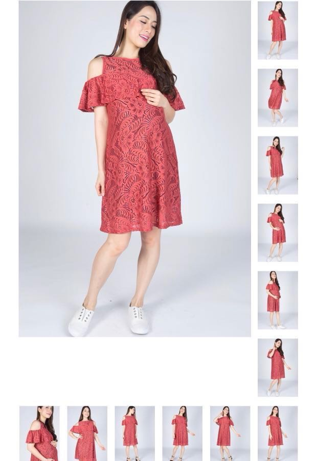 ba94785d2d2 Ava cold shoulder nursing dress - jump eat cry, Babies & Kids ...