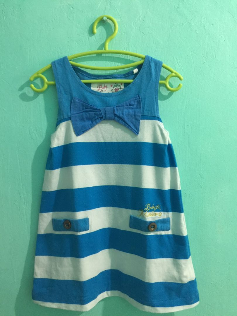 308d0ec2f1d3 Baby Mossimo Blue and White Stripes Dress