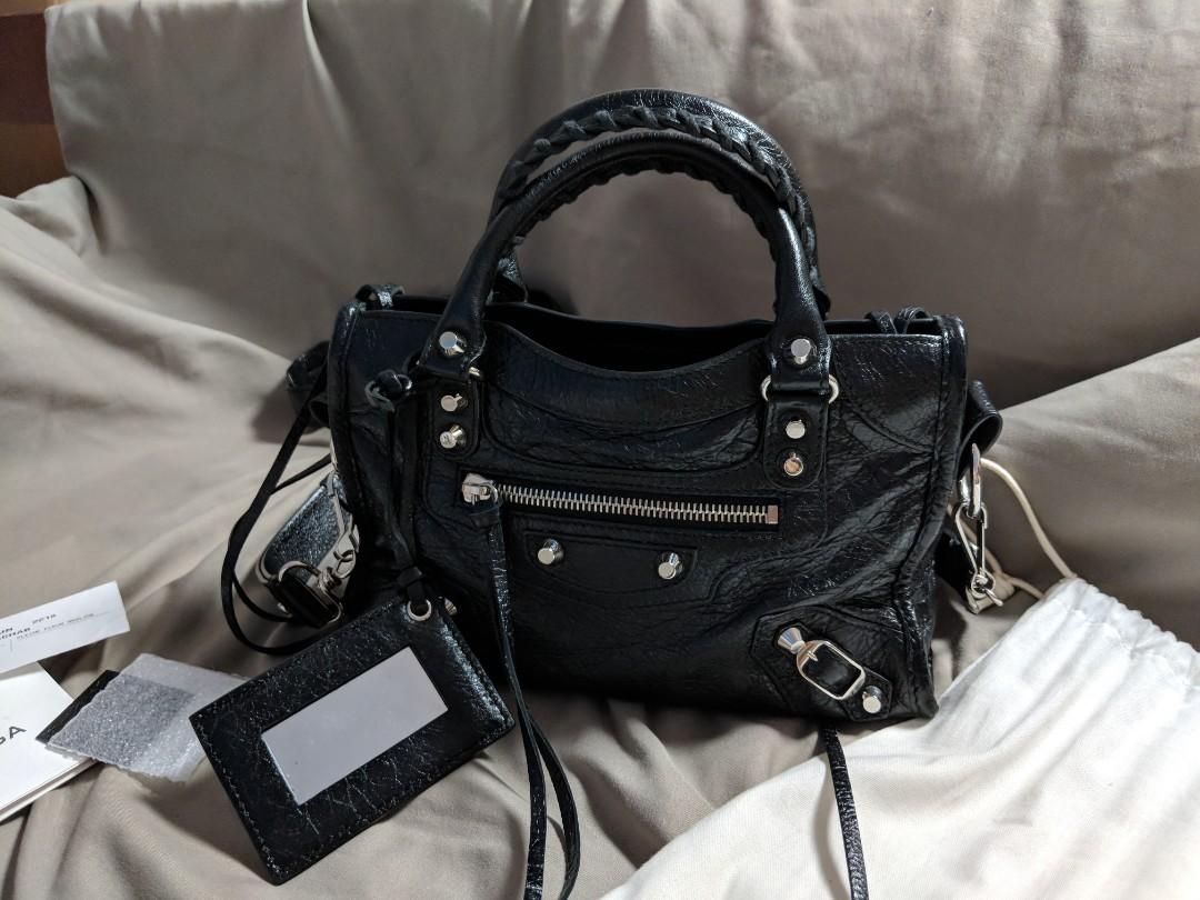031328544172f4 Balenciaga Classic Silver Mini City, Luxury, Bags & Wallets, Sling ...