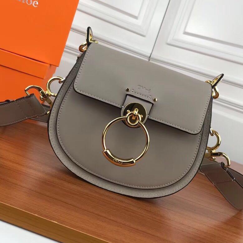 74bb9f8bb809 BEST SELLING Chloe Small Tess Suede Calfskin Motty Grey Bag ...