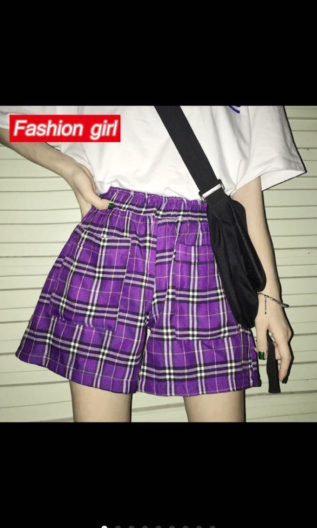 bf風紫色小短褲